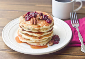 Tart Cherry Greek Yogurt Pancakes