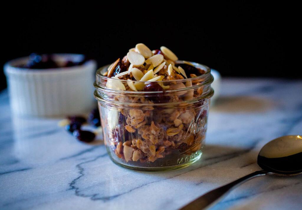 Tart Cherry Almond Overnight Oats