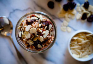 Tart Cherry Almond Overnight Oats
