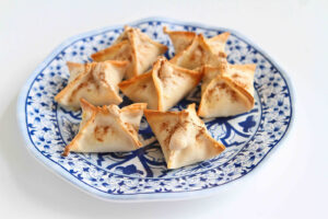 Baked Tart Cherry Cream Cheese Wontons
